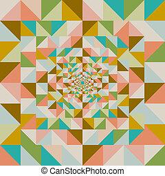 résumé, pattern., seamless, effet, visuel, retro
