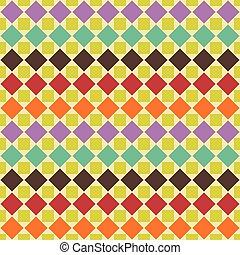 résumé, pattern., seamless, illustration, vecteur, retro, géométrique