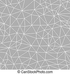 résumé, pattern., seamless, maille, vecteur, fond, géométrique