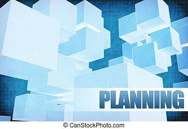 résumé, planification, futuriste