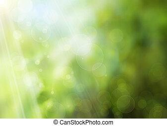 résumé, printemps, nature, fond
