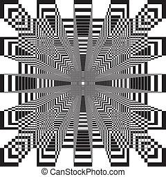 résumé, pseudo, fond, labirinth, carrés, 3d