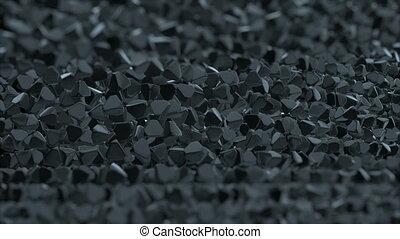 résumé, pyramide, surface., géométrique