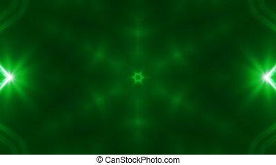 résumé, rendre, arrière-plan vert, numérique, kaleidoscopic., fractal, vj, toile de fond, 3d