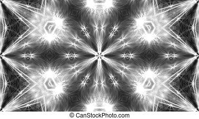 résumé, rendre, fond, numérique, blanc, kaleidoscope., 3d