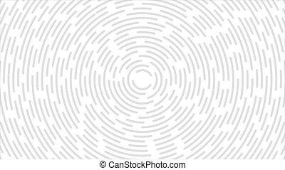 résumé, retro, lignes, blanc, gris, mouvement, circulaire, ...