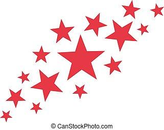 résumé, rouges, étoiles