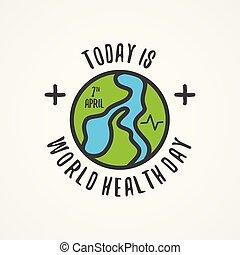 résumé, santé, mot, jour, aujourd'hui, carte, mondiale