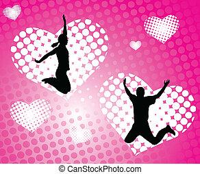 résumé, sauter, amour, gens