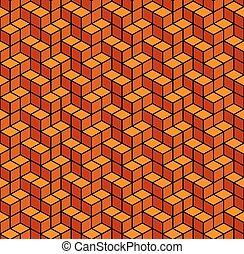 résumé, seamless, arrière-plan., vecteur, orange, géométrique