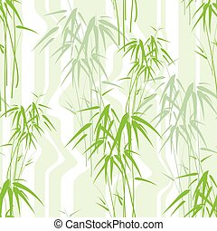 résumé, seamless, fond, bambou