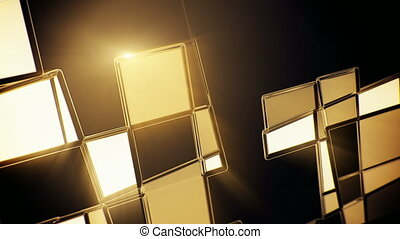 résumé, seamless, jaune, mouvement, verre, incandescent, mosaïque, fond, boucle