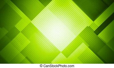 résumé, seamless, mouvement, arrière-plan vert, géométrique, boucle