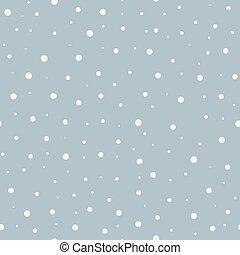 résumé, seamless, neige, hiver, vecteur, arrière-plan.