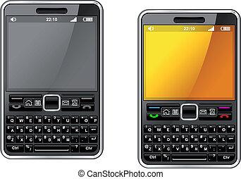 résumé, smartphone, conception, moderne