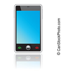 résumé, smartphone, touchscreen