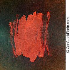 résumé, sombre, peinture, incandescent, fond, rouges