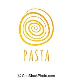 résumé, spaghetti, icône