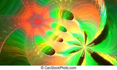 résumé, spirale, multicolore, faire boucle, fond, fractal