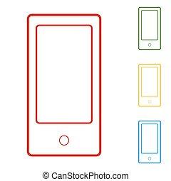 résumé, style, moderne, gadgets, à, écran blanc
