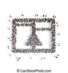 résumé, symbols., forme, gens