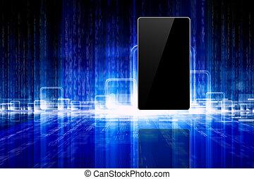 résumé, tablette, smartphone