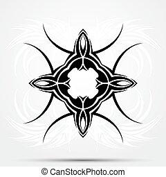 résumé, tattoo., tribal