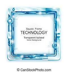 résumé, technologie, cadre, backgroun