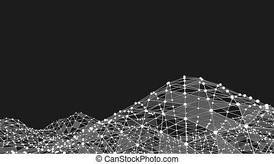 résumé, technologie, fond, futuriste, réseau