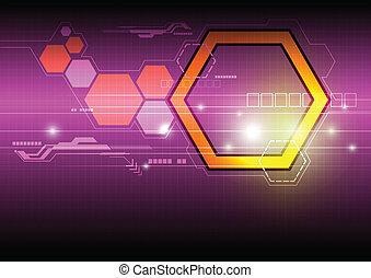 résumé, technologie, fond, numérique