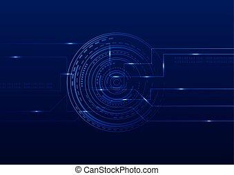 résumé, technologie, futuriste, arrière-plan numérique, vecteur, illustration