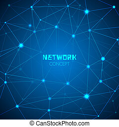 résumé, technologie, réseau, concept