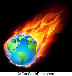 résumé terre, brûlé