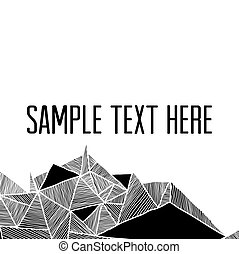 résumé, tex, ton, géométrique, carrée, moderne, arrière-plan., cadre