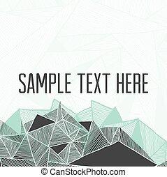 résumé, texte, ton, carrée, géométrique, arrière-plan., cadre