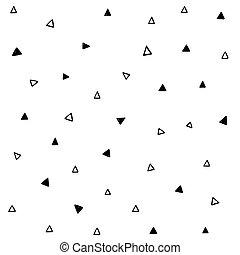 résumé, triangle, fond