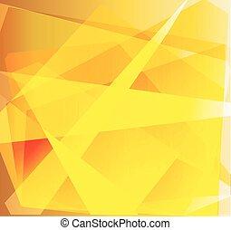 résumé, triangle, fond jaune