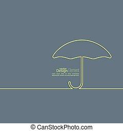 résumé, umbrella., ouvert, fond