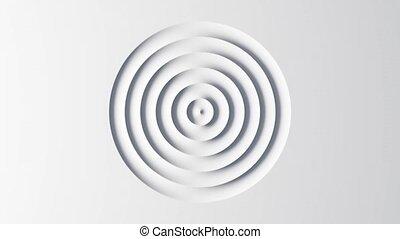 résumé, vagues, blanc, animation, gabarit, circulaire