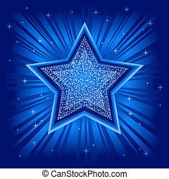résumé, vecteur, étoile, fond