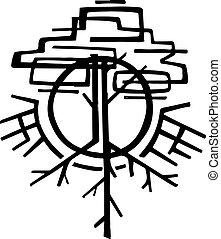 résumé, vecteur, arbre, illustration
