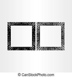 résumé, vecteur, arrière-plan noir, cadre, vide