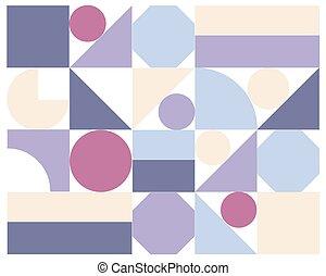 résumé, vecteur, coloré, géométrique, fond
