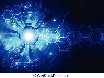 résumé, vecteur, conception, fond, technologie numérique