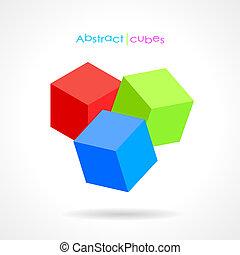 résumé, vecteur, cubes