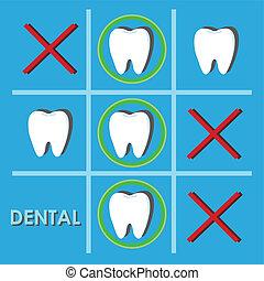 résumé, vecteur, dentaire, illustration