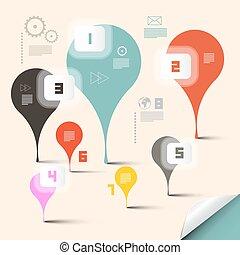 résumé, vecteur, disposition, infographics