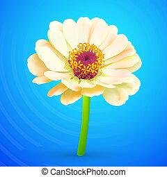 résumé, vecteur, fleur, icône