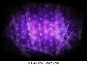 résumé, vecteur, fond, violet