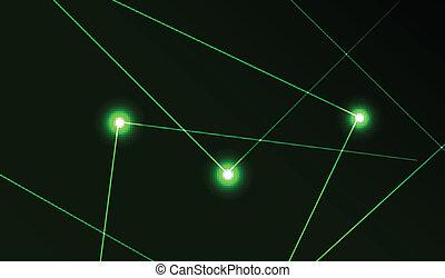 résumé, vecteur, laser, fond
